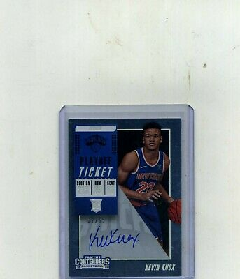2018 Contenders Basketball Kevin Knox Rookie Ticket Autograph Chrome 2265