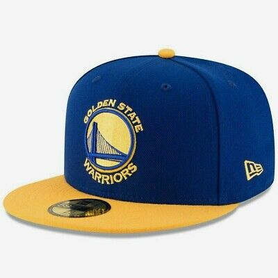 GOLDEN STATE WARRIORS NBA NEW ERA 59FIFTY OFFICAL TEAM COLORS FITTED HATCAP NWT