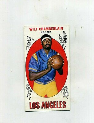 1969 Topps Basketball 1 Wilt Chamberlain -Authentic-trimmed at top border