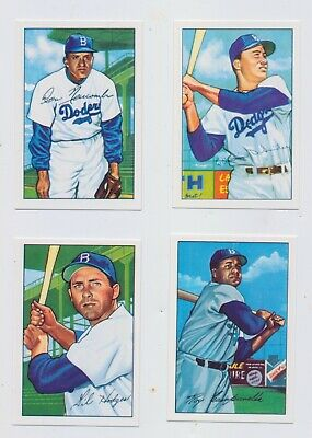 1952 Brooklyn Dodgers Bowman Trading Card Set Roy Campanella Gil Hodges Don New