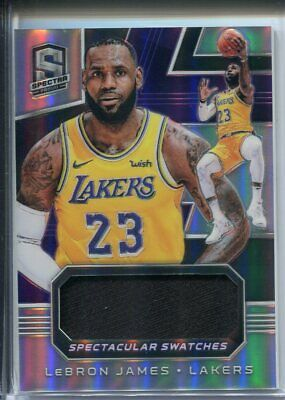 2018-19 Spectra Lebron James Spectacular Swatches 99 GAME USED PATCH 2
