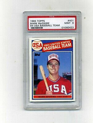 1985 Topps PSA 9 401 Mark McGwire Rookie-Centered and Sharp