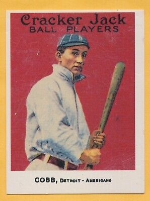 50 Different 1918 Cracker Jack Reprint Baseball Cards with Ty Cobb - T205 cards