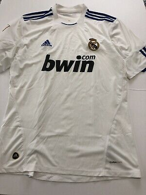 2010-2011 Real Madrid Home Jersey White Adidas Large L