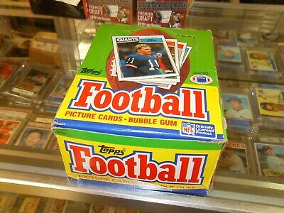 1987 Topps Football Wax Box-Kelly Cunningham R-Non X Out Free Priority Ship