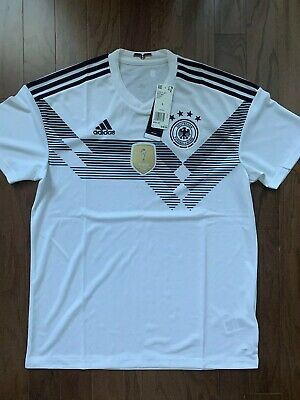 Adidas Germany World Cup Home Mens Soccer White Jersey BR7843 sz Large NEW 90