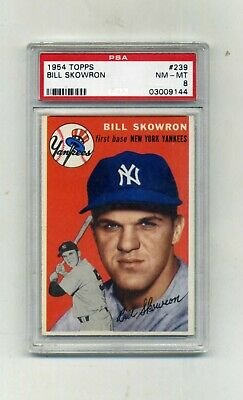 1954 Topps PSA 8  239 Bill Skowron Rookie-Beautiful and Nicely Centered