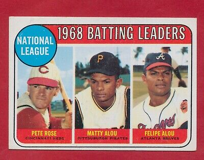 Pete Rose 1969 Card 2 1968 Batting Leaders BONUS 1912 Ty Cobb T206 Reprint Card