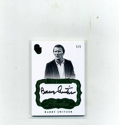 2017 Panini Flawless Football Barry Switzer Emerald on card Autograph 55