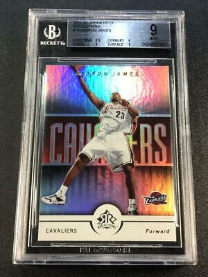 LEBRON JAMES 2005 UPPER DECK 16 REFLECTIONS REFRACTOR LIKE CARD BGS 9