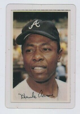 1971 Dell Publishing Co Hank Aaron Baseball Stamp Card Atlanta Braves