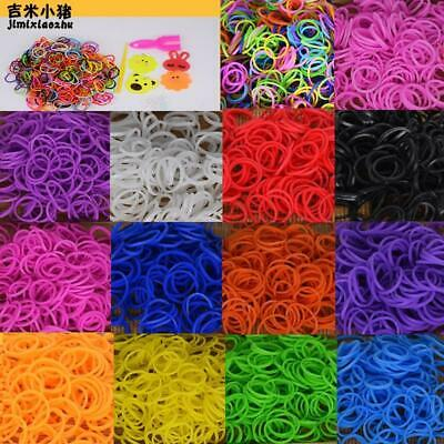 Diy toys rubber bands bracelet for kids or hair rubber loom bands refill rubber