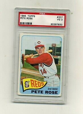 1965 Topps PSA 3 207 Pete Rose-Very Nice for a 3-Affordable 3rd Year