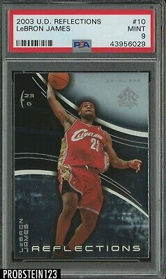 2003-04 Upper Deck Reflections LeBron James Cleveland Cavaliers RC Rookie PSA 9