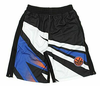 Zipway NBA Mens New York Knicks MotoCross Athletic Shorts Black