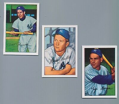 1952 New York Yankees Bowman Reprint Set Mickey Mantle - 1952 World Series Game7