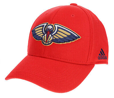 Adidas NBA Mens New Orleans Pelicans Structured Flex Hat Red