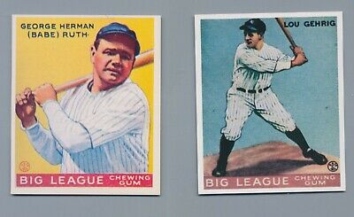 54 DIFFERENT 1933 Goudey Reprint CardsIncludes Babe Ruth Lou Gehrig - BONUS