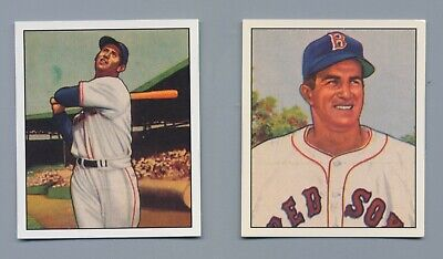 1950 Boston RedSox 10 Bowman Reprint Cards Ted Williams Johnny Pesky -BonusITEMS
