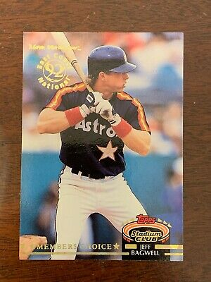 1992 SCARCE Topps Jeff BAGWELL Gold Embossed Stadium Club Houston Astros