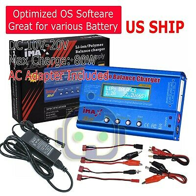 IMax B6 Digital LCD Lipo NiMh Battery balance Charger USA Fast Ship