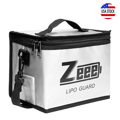 Zeee Lipo Battery Safe Guard Fireproof Explosionproof Bag For Charge - Storage