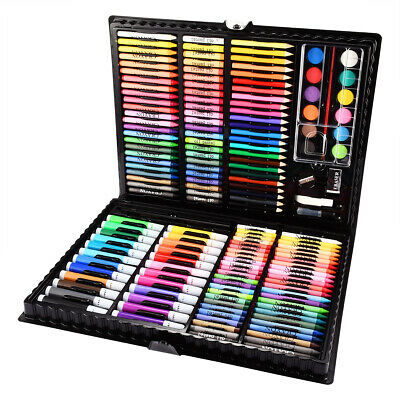 168 PCSSet Colorful Pencil Wax Crayon and Oil Painting Brush Drawing Tool Set