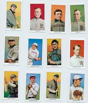 1910 T 206 Hall of Fame Reprint Set 14 Cards Includes 4 Ty Cobbs Cy Young