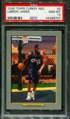 2006 TOPPS TURKEY RED 2 LeBRON JAMES CAVALIERS PSA 10 K2733708-707