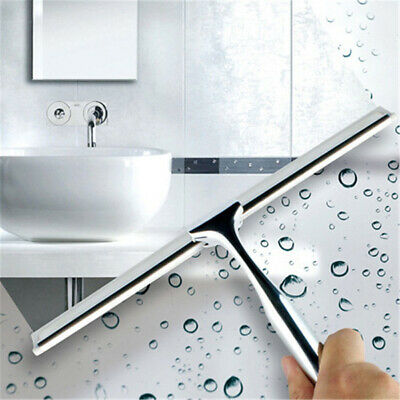 Stainless Steel Shower Squeegee Window Wiper with Super Suction Cup Cleaning