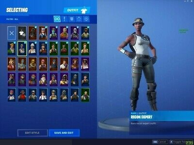 Fortnite recon Expert account amazon card or xbox card