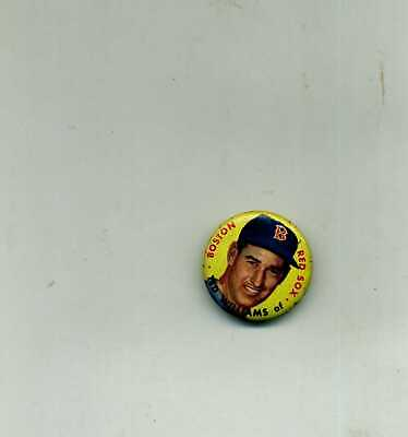 1956 Topps Baseball Pins Button Coin Ted Williams-VG Condition-Check Scan