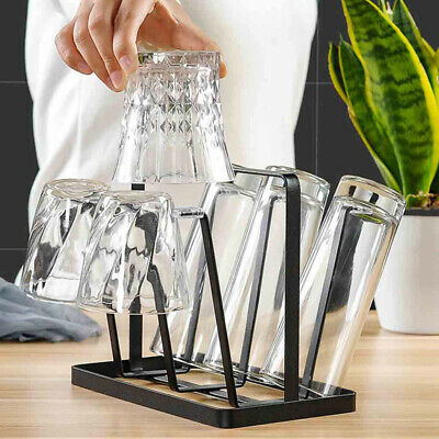 Iron Metal Craft Upside-down Six Cup Drain Rack Glass Hanger Cup Holder Stand