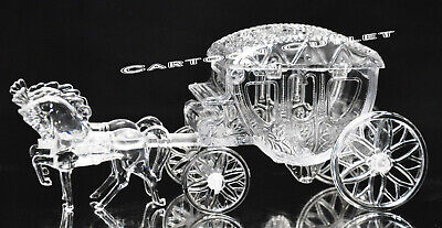Carriage Royal Vintage Cinderella Horse and Carriage Coach Cake Topper Clear New
