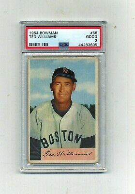 1954 Bowman PSA 2 66 Ted Williams -Nice-Just graded