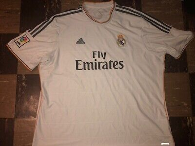 2013-2014 REAL MADRID Football Club ADIDAS CLIMA COOL Soccer Fly Emirates Jersey