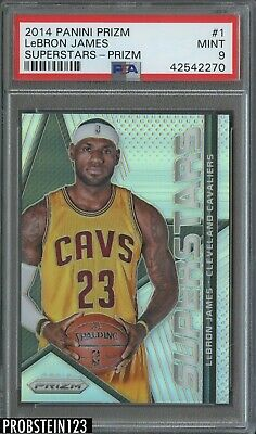 2014-15 Panini Prizm Silver Superstars 1 LeBron James Cleveland Cavaliers PSA 9