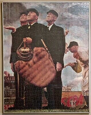 NORMAN ROCKWELL ONE OF A KIND ITEM BROOKLYN DODGERS EBBETS FIELD