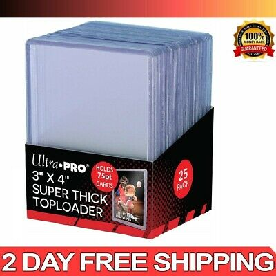 Card Sleeves Clear Hard Plastic Protector Top Loader Baseball Trading 3 X 4 inch