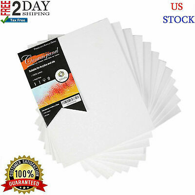 12PC Pre Stretched Canvas Lot Blank Frame 8X10 Large Wall Art WOOD Paint Board-