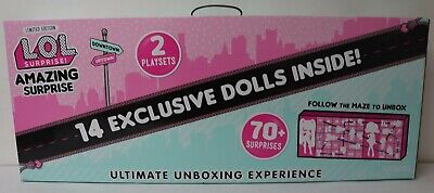 LOL Surprise Amazing Surprise 14 Exclusive Dolls 70- Surprises 2 Playsets New
