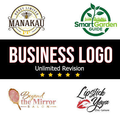 PROFESSIONAL CUSTOM LOGO DESIGN - BUSINESS LOGO- UNLIMITED REVISION - GRAPHICS