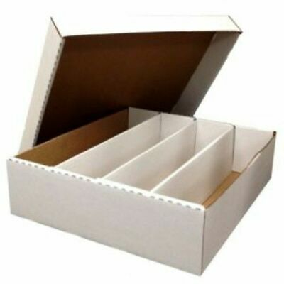 5x BCW Monster 3200 Count Corrugated Cardboard Storage Box PRO CARDS