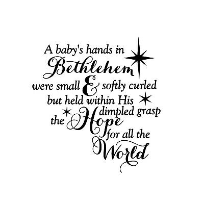 A babys hand in Bethlehem Unmounted Rubber Stamp Religious Christmas 26