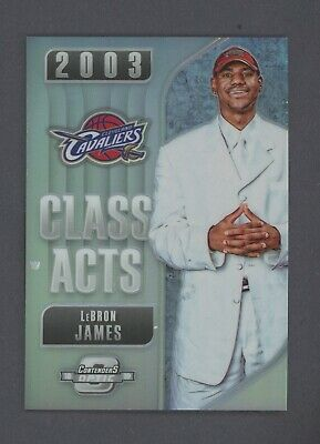 2018 Optic Contenders Lebron James SILVER PRIZM Class Acts SP