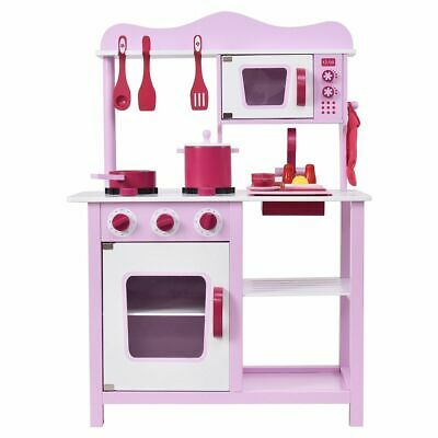 Barbie Size Doll House Playhouse Dream Girls Play Wooden Dollhouse w Furnitures