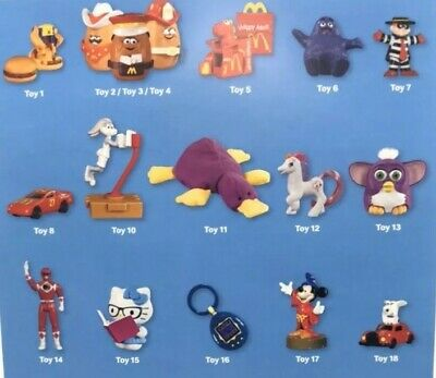 2019 McDonalds 40TH ANNIVERSARY The Surprise Happy Meal Toys 1-18 RETRO SOLD OUT