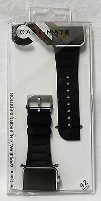 Case-Mate Apple Watch Scaled Black Band 42mm - CM032791