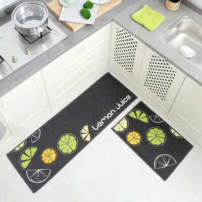 2PcsSet Kitchen Carpets Rugs Cartoon Washable Bathroom Door Entrance Mat Rug