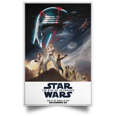 Star Wars The Rise of Skywalker Poster Read3D sizes 16x24 24x36